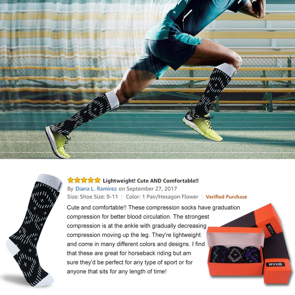 WXXM Compression Socks-Womens Athletic Running Socks Moderate 15 ...