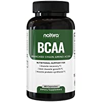Natura BCAA Capsules - All Natural BCAAs for Recovery and Muscle Growth - Clean...