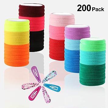 1 Beutel Bunt Elastische Bänder Haar Gummibänder Haarband Haargummibänder