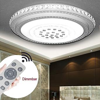 24W-72W LED Kristall Deckenleuchte Deckenlampe Badleuchte Licht Schlafzimmer
