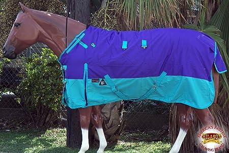 """78/"""" 1200D Turnout Waterproof Horse WINTER BLANKET HEAVY WEIGHT Purple 525G"""