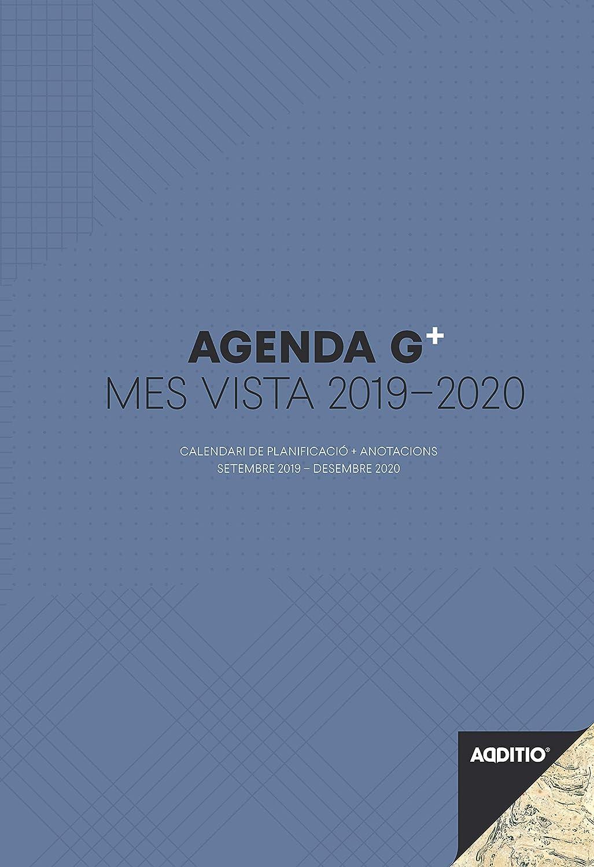 Additio P181-P - Agenda G Plus 2019-2020 mes vista + anotaciones para el profesorado (catalán)