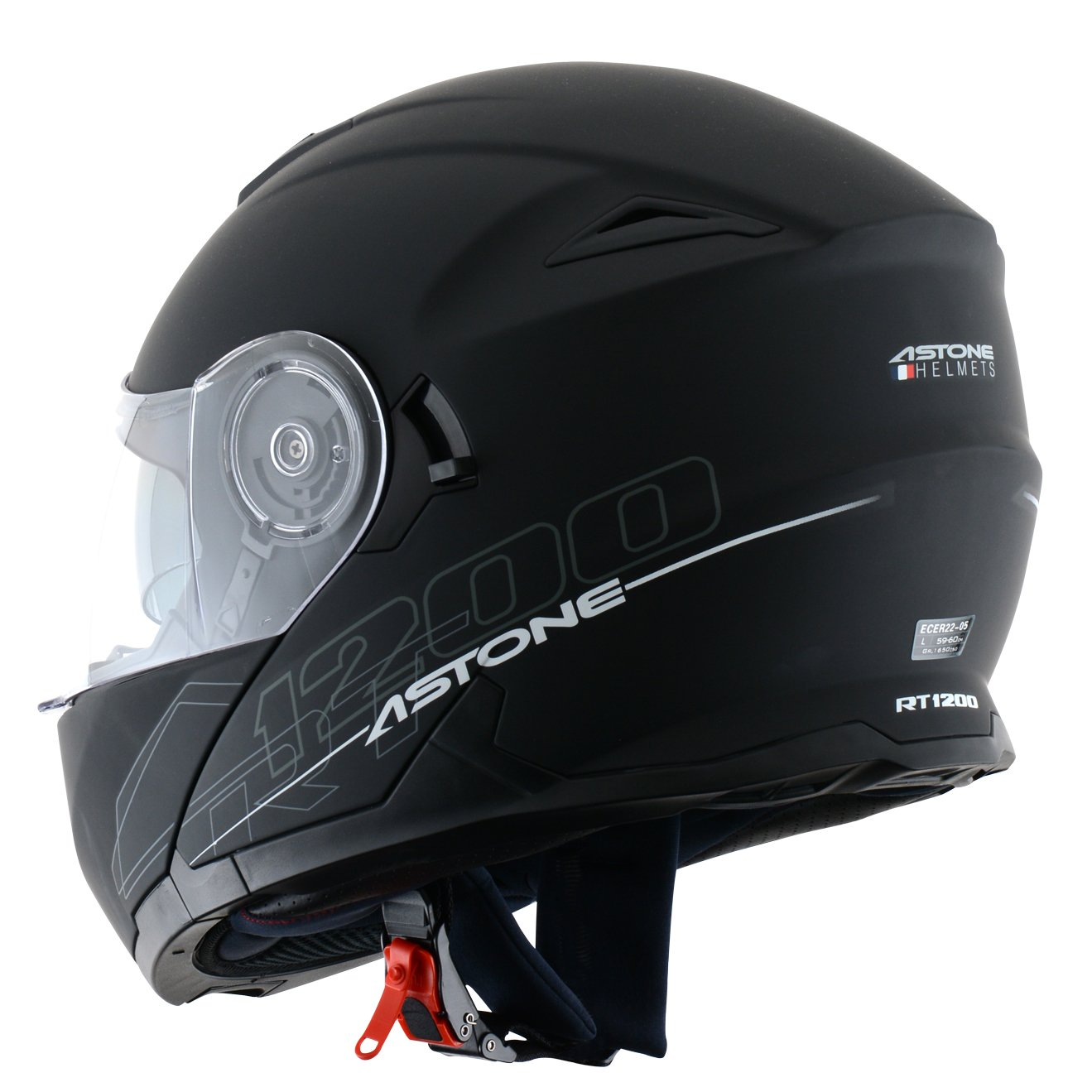 L Astone Helmets Casque Modulable RT1200 Blanc Brillant