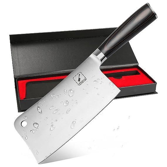 Imarku Profesional Cuchillo de Carnicero, 7 Pulgadas de Acero Inoxidable Cuchillo Para Hogar Cocina o Restaurante