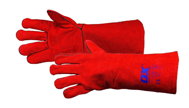Leather Heatproof Welders Gauntlets Palm Thickness Safety DIY Welding Gloves