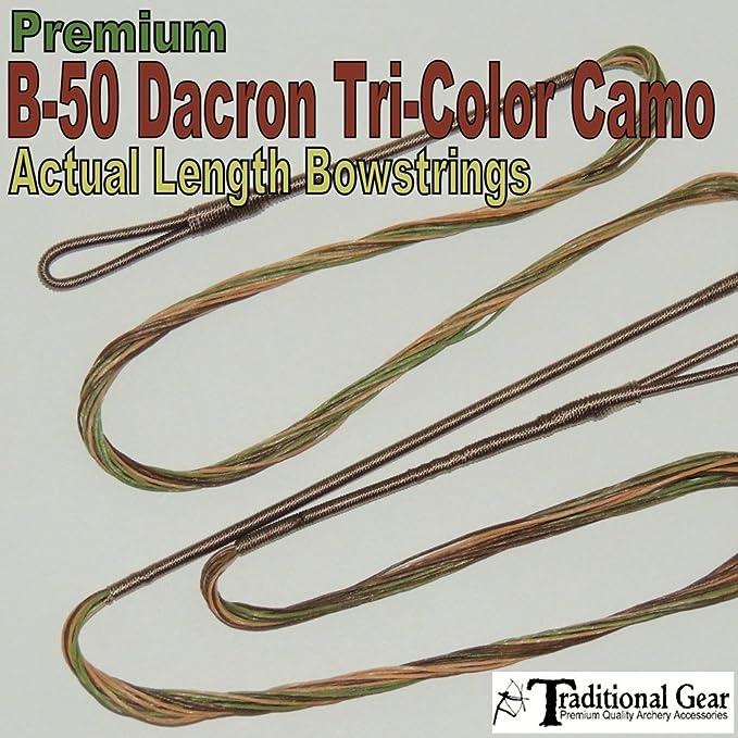 "Camo B50 47/""  51 AMO Recurve Bow String 16 strands Dacron Traditional Bowstring"