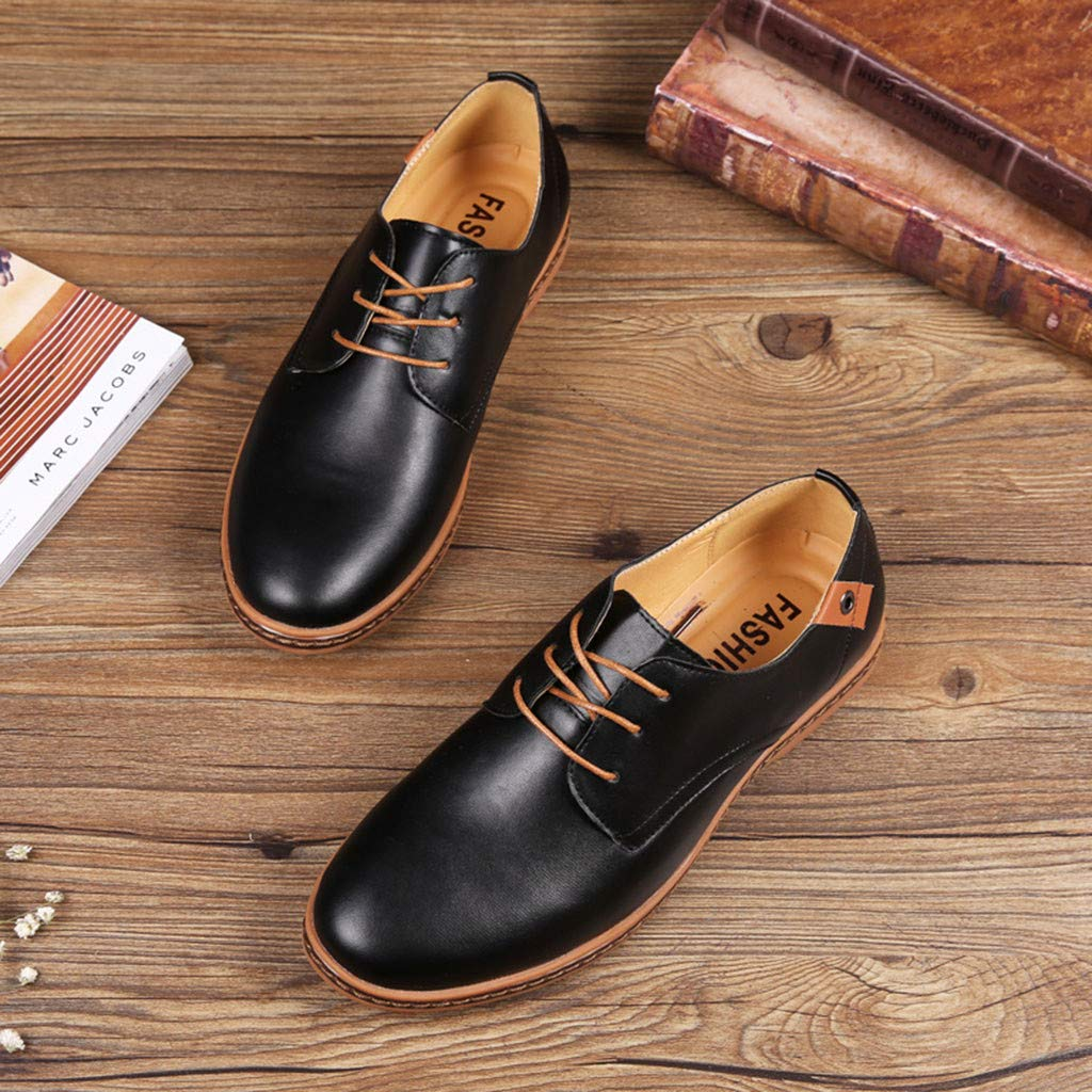 Corriee Mens Classic Oxford Shoes Fashion Lace Up Leather Wedding Shoes Male Business Shoes