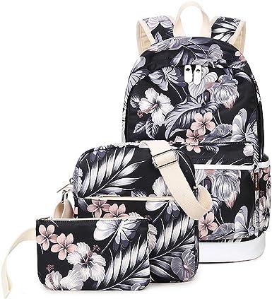 Ladies Girls Canvas flower  Backpack Rucksack fashion bag Travel  Bag
