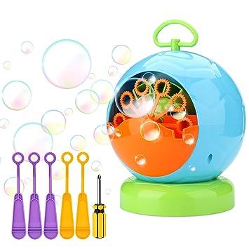 AGPTEK Máquina de Burbujas automática para niños, Bubble Machine ...