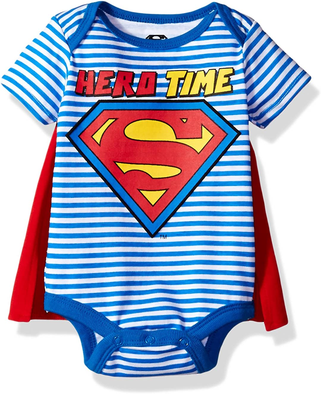 Warner Brothers Baby Boys' Superman Creeper with Cape
