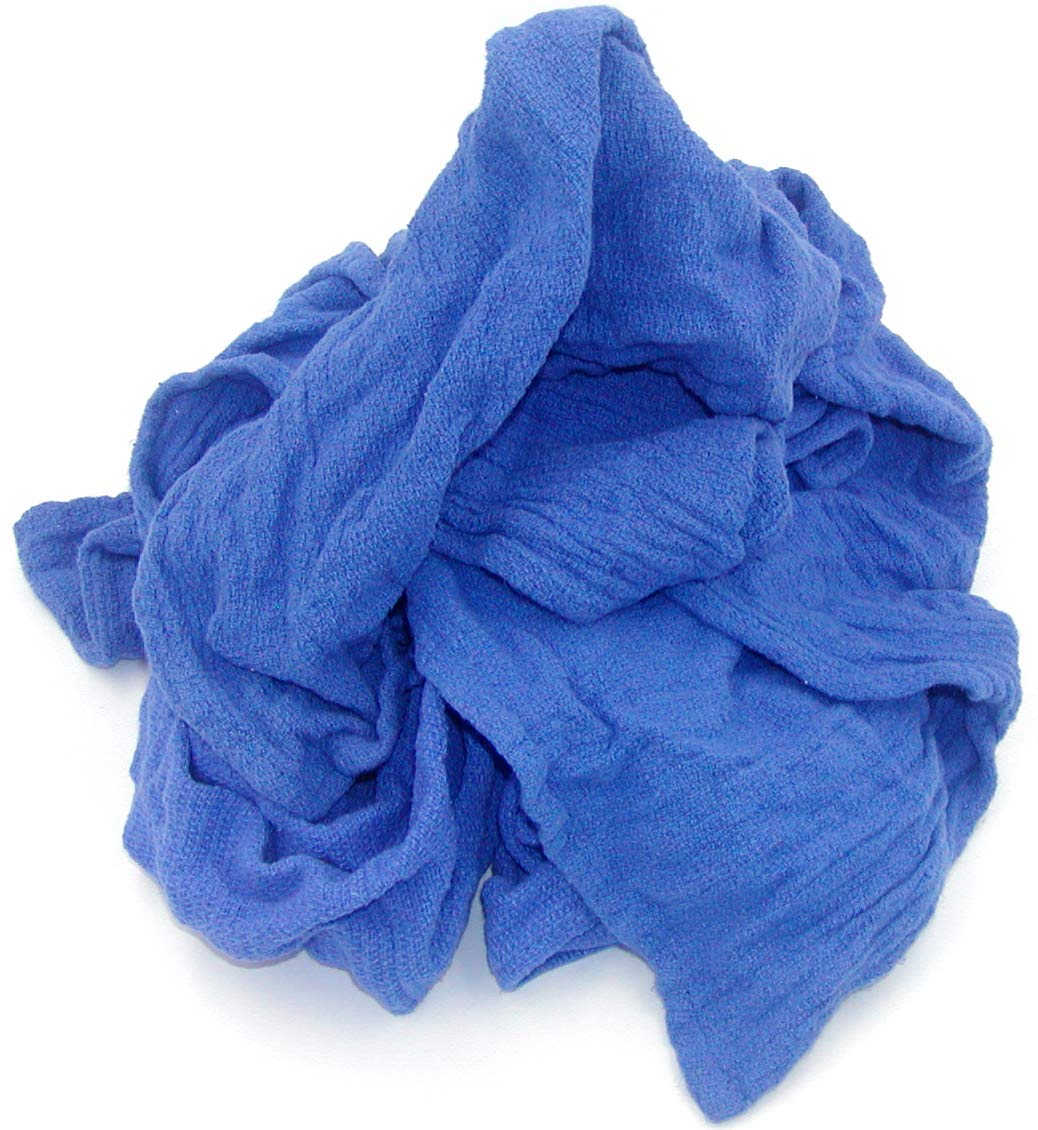 Recycled Blue Surgical Towel Rags - 10 Pound Box - A Perfect Non-Streaking No Lint Towel by A&A Wiping Cloth (Image #1)