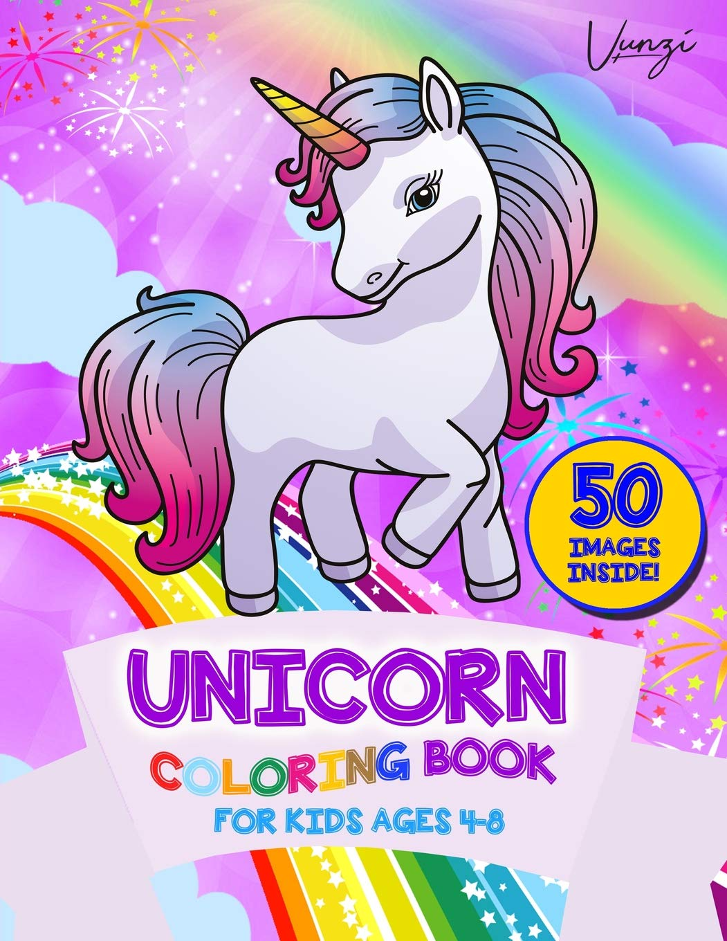 - Unicorn Coloring Book For Kids Ages 4-8: A Beautiful Collection Of