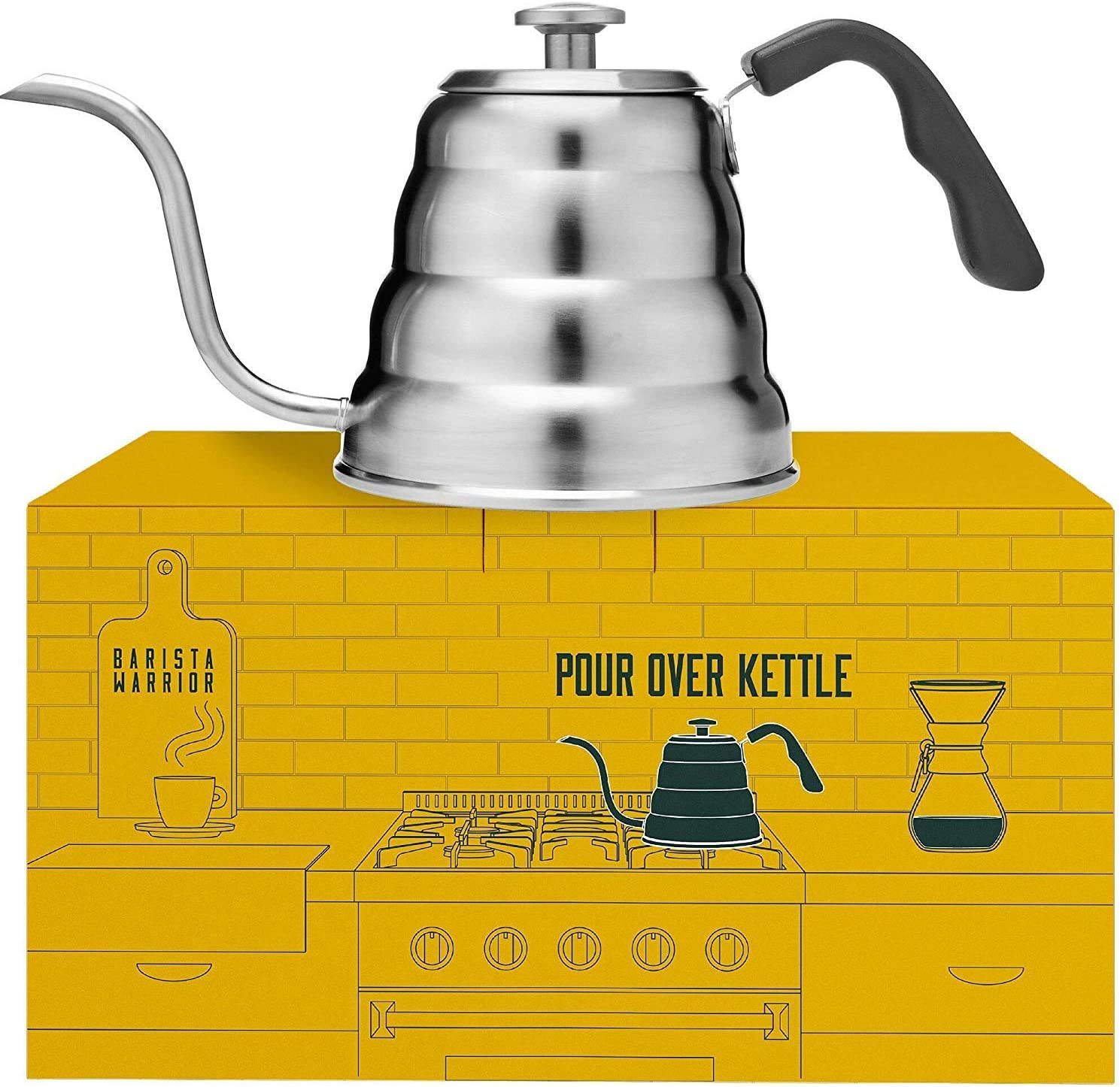 Pour Over Kettle with Thermometer – Gooseneck Kettle for Pour Over Coffee Kettle 1.2 Liter 40 fl oz