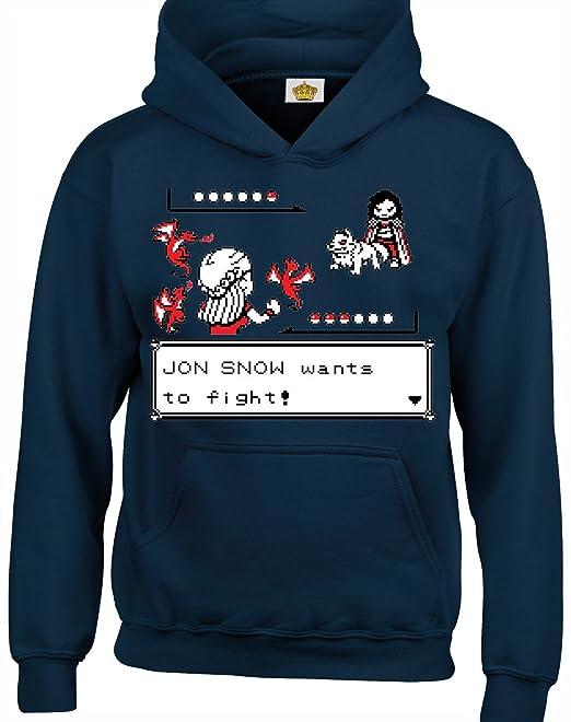 Crown Designs Jon Snow Wants to Fight Videojuego Inspirado en Un Programa de Television de Fantasia Inspirado Sudaderas Unisex de Regalo para Hombres ...