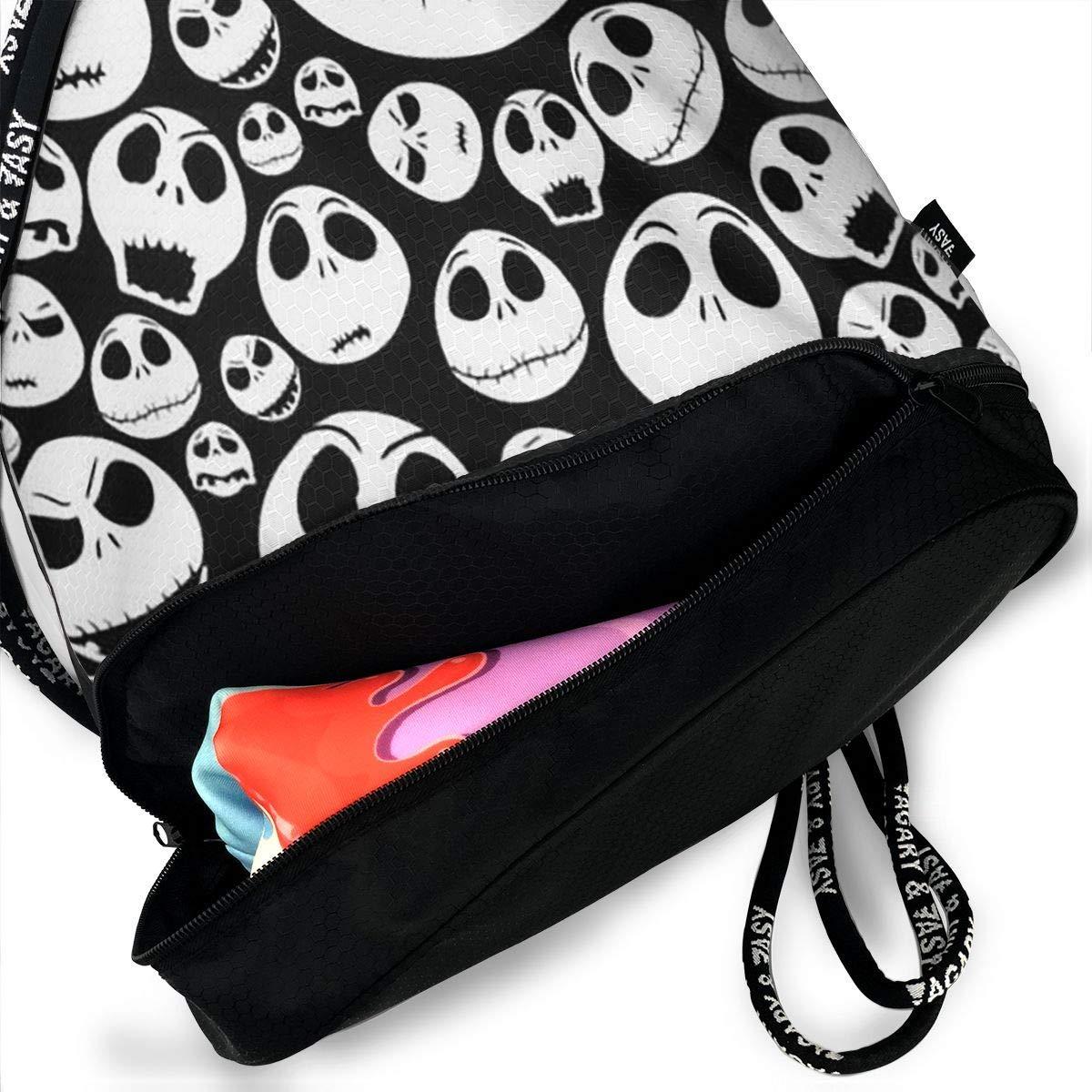 Bolsa de Deporte Halloween Skull Cord/ón Bolsa de Gimnasia para Adolescentes PmseK Mochila con Cord/ón,Bolsas de Gimnasia