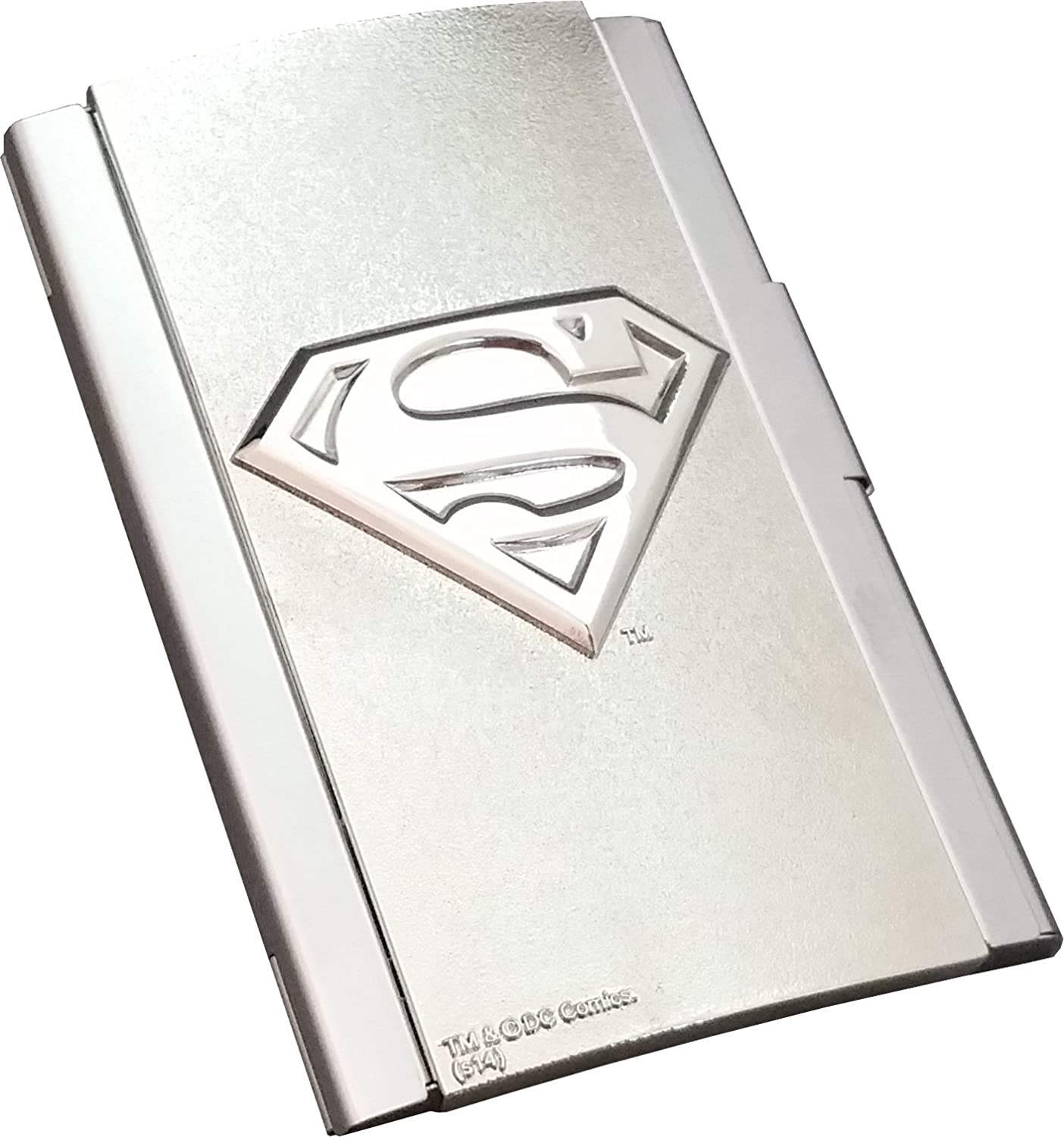 dc ics superman logo card case toys games