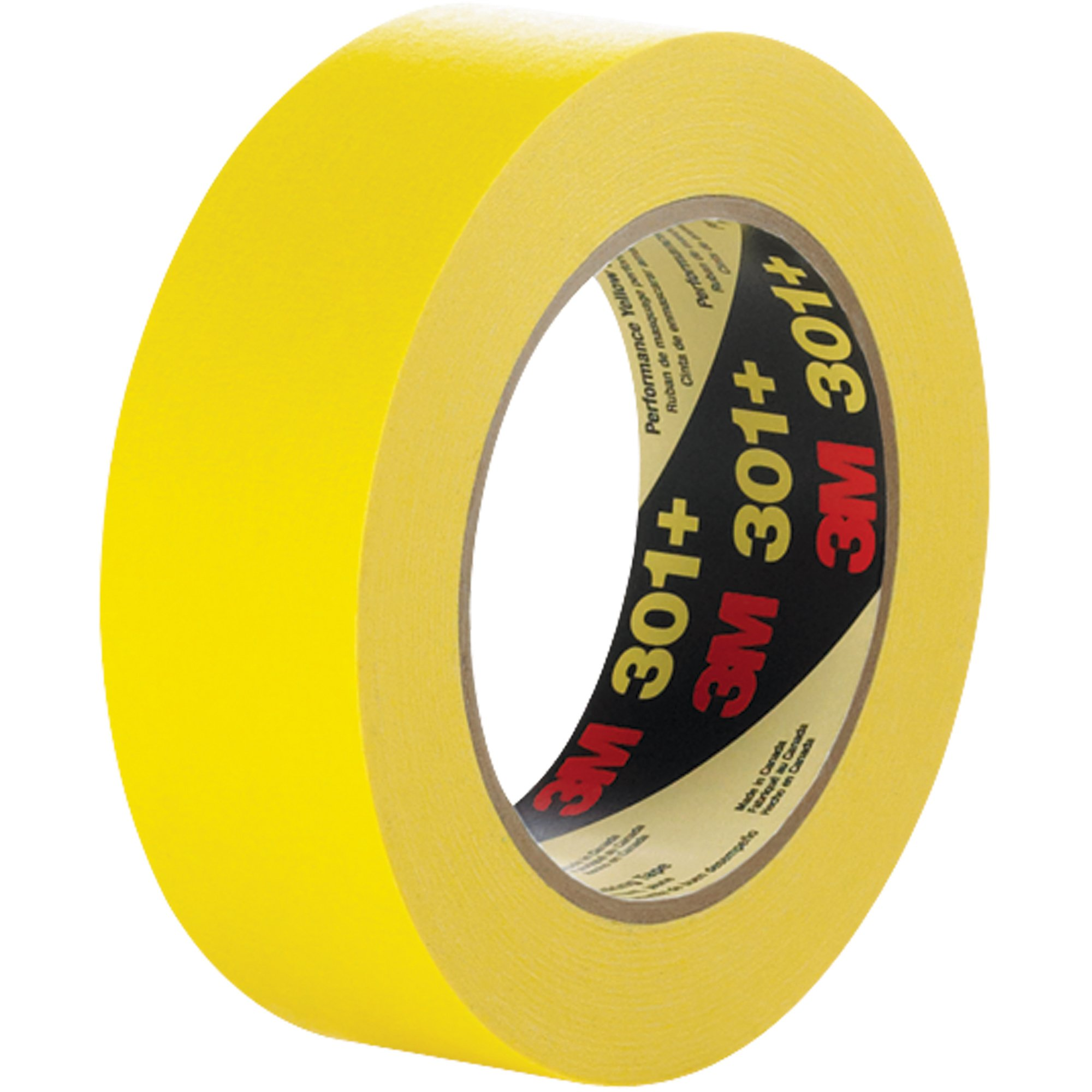 Top Pack Supply 3M301+ Masking Tape, 6.3 Mil, 3/4'' x 60 yds. Yellow (Case of 12)