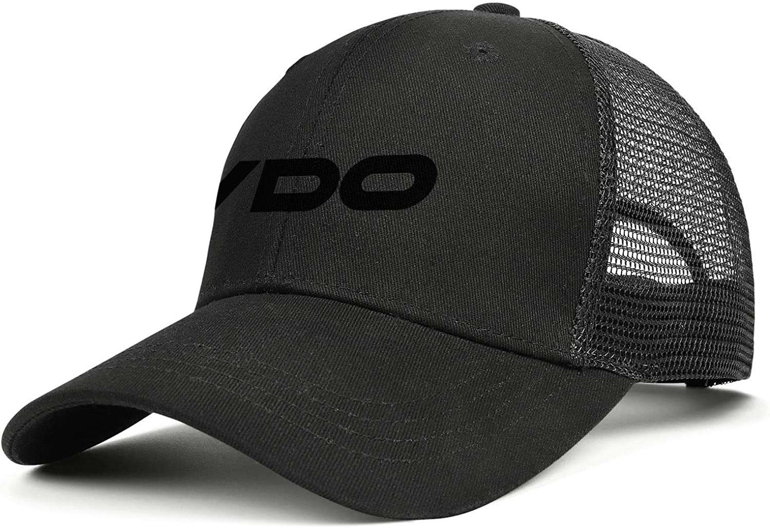 COOLGOOD VDO-Logo Mens Womens Mesh Back Running Trucker Cap Outdoor Mesh Cap
