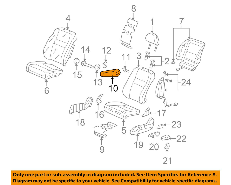 Front Honda Genuine 81580-SWB-A11ZB Seat Armrest Assembly Left