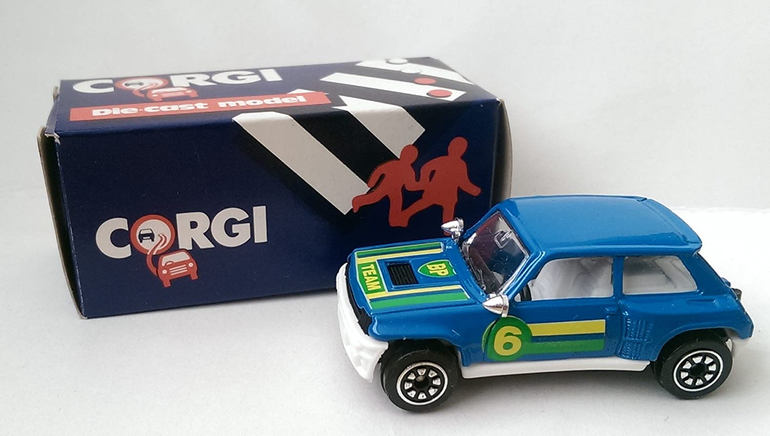 Amazon.com: Corgi Juniors Renault 5 Turbo Team BP Fuel Model Car Made In Great Britain 1985: Toys & Games