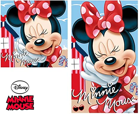 2 TGL Juego de toallas de mano – Disney Minnie Mouse – Toalla/toalla de
