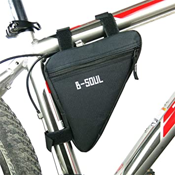 Triangle Mountain Bike Front Tube Frame Bag Outdoor Cycling Bicycle Bag Pouch US
