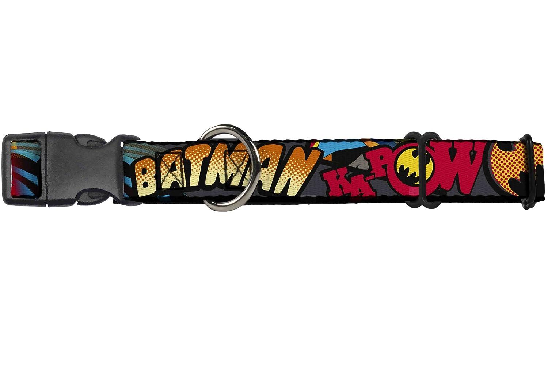 Buckle-Down Batman Dark Knight  Martingale Dog Collar, 1  Wide-Fits 11-17  Neck-Medium