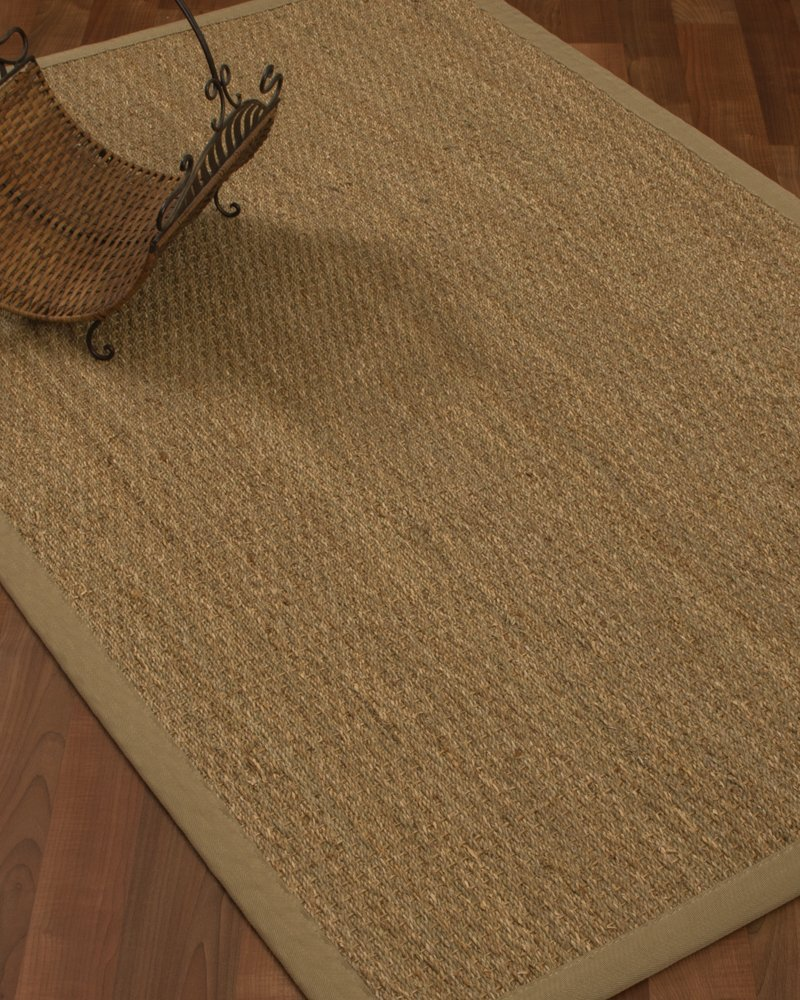amazoncom natural fiber maritime seagrass rug 5u0027 by 8u0027 sagekhaki kitchen u0026 dining - Seagrass Rug