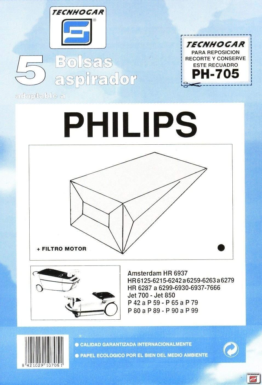 Distribuidora Ersa. 910705 - Bolsa aspirador papel philips thogar ...