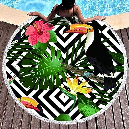 Shinelly Tukan - Toalla de Playa, Esterilla de Yoga, Mandala ...