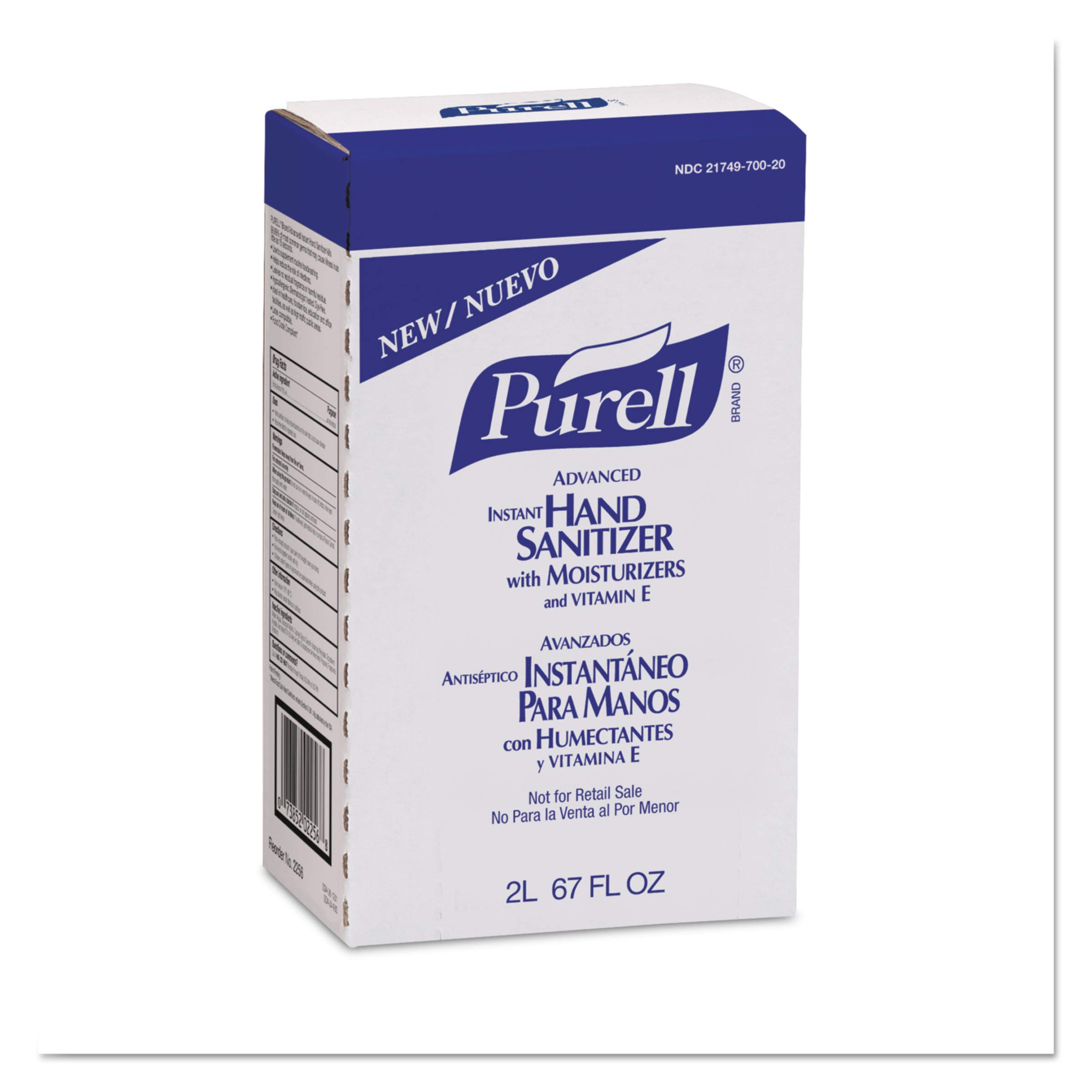 PURELL 225604 Advanced Instant Hand Sanitizer, 2000mL Refill (Case of 4)