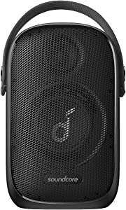 Soundcore Trance Go Outdoor Bluetooth Speaker with BassUp Technology, Sync 100+ Speakers, 24H Playtime, Waterproof, Custom EQ, App