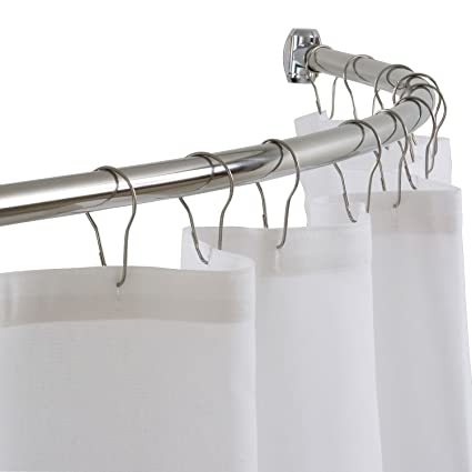 Amazon DIAMOND USA Curved Shower Curtain Rod 54