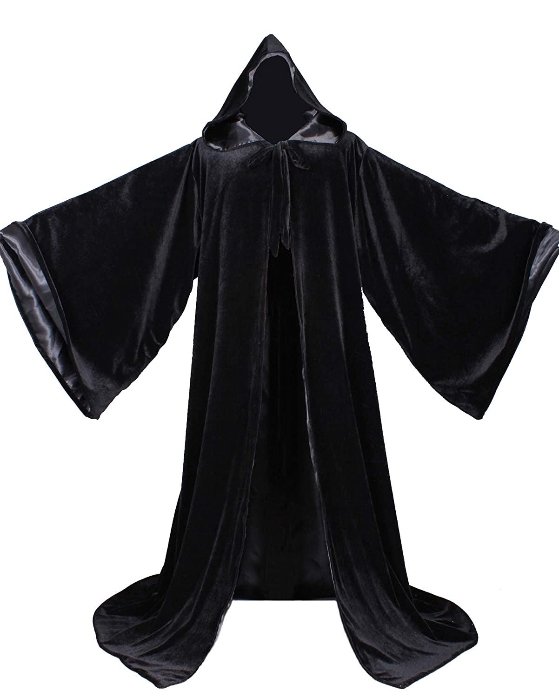 Amazon.com: LuckyMjmy bata de terciopelo con capucha y ...