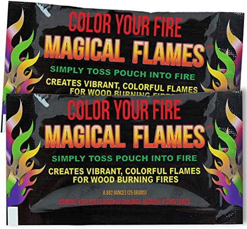 Magical Flames Vibrant Colorful Flames for Wood Burning Fires 50 Pack