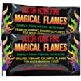 Magical Flames Create Colorful & Vibrant Flames for Fire Pit - (25 Pack) - Campfire, Bonfire, Outdoor Fireplace – Magical, Co