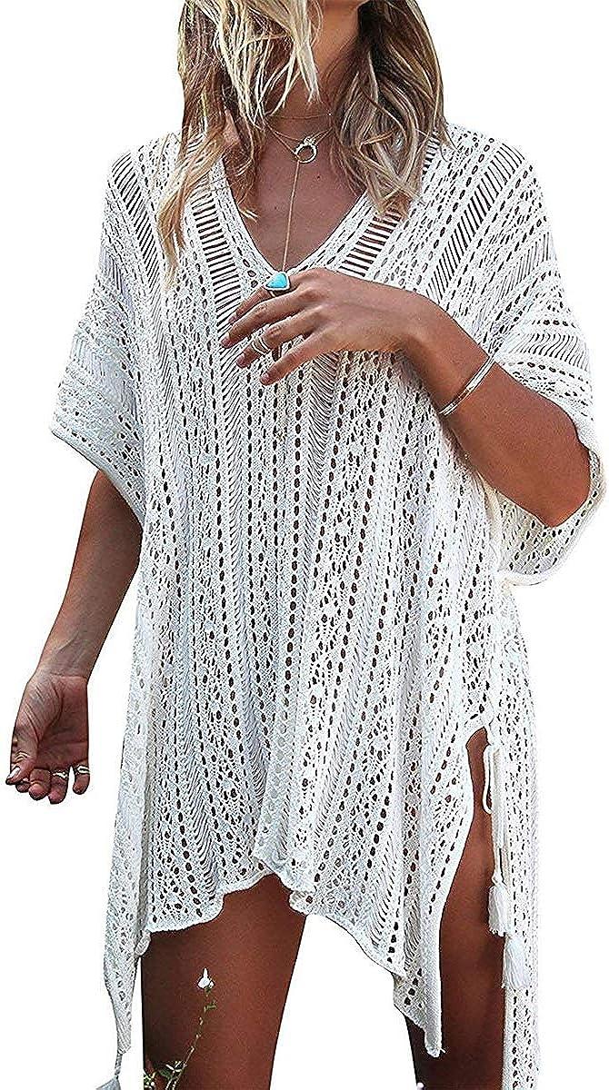 ShinyStar Women Hollow Out Beachwear Bikini Cover Up