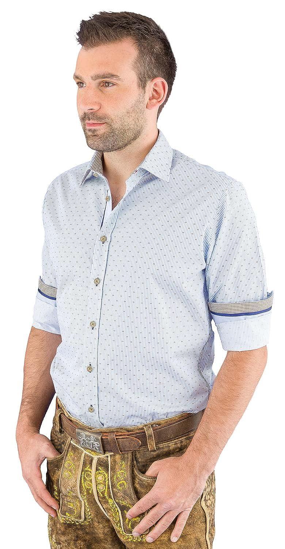 Pure Trachtenhemd Herren langarm C12610-11199 264 hellblau