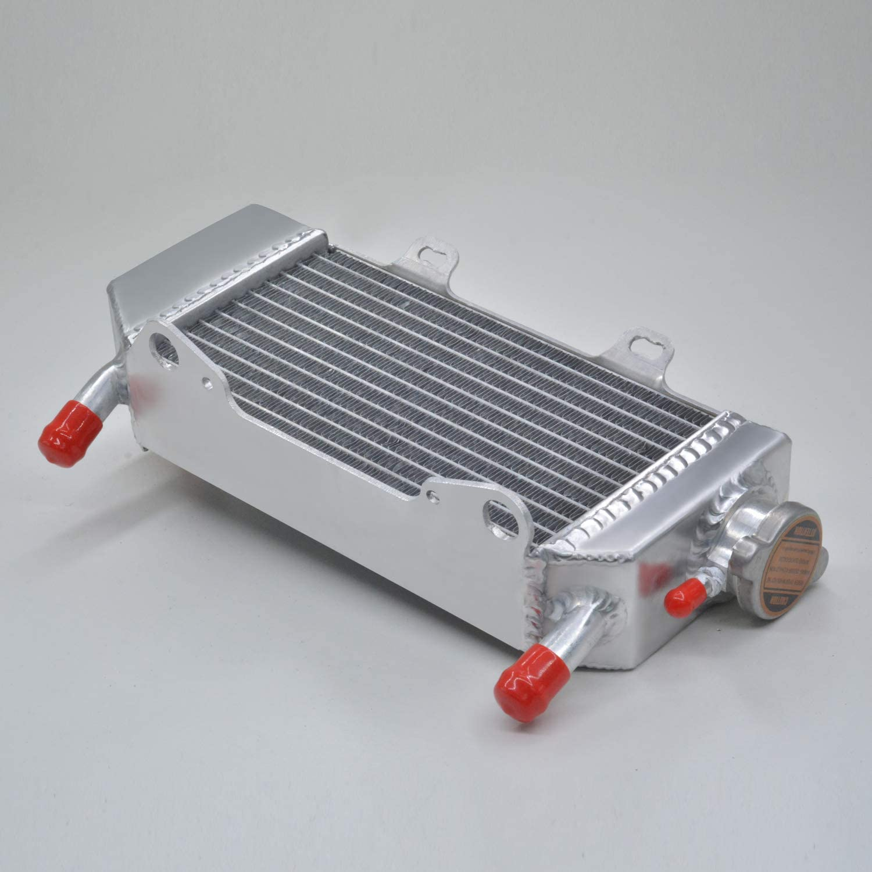 aluminum alloy radiator fit for HONDA CRF250R CRF250X 2004 2005 2006 2007 2008 2009 capless