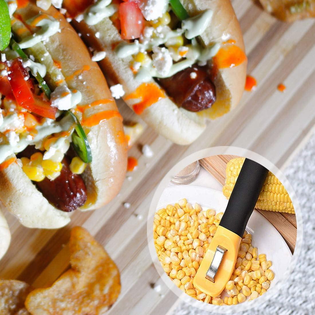 Good Grips Corn Peeler Corn Cob Peeler Corn Peeler Corn Peeler Corn Remover Easy Corn Peeler with Non-Silp Silicon Handle Easy to Clean