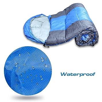 Homiki Saco de Dormir Ligero para Camping Senderismo Montañas Ultraligero Impermeable Color Azul Sacos Bolsas Térmicas