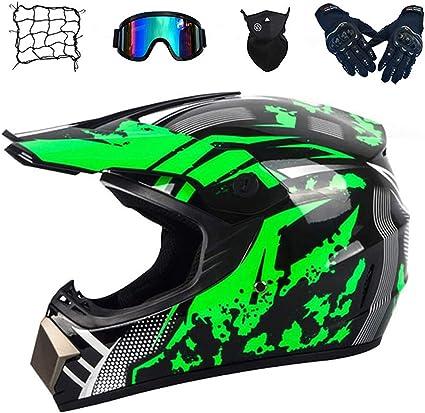 Cnstzx Motocross Helm Adult Off Road Helm Mit Handschuhe Maske Brille Moto Netz Unisex Motorradhelm Cross Mountainbike Schutzhelm Motocrosshelm Für Männer Damen Sicherheit Schutz Sport Freizeit