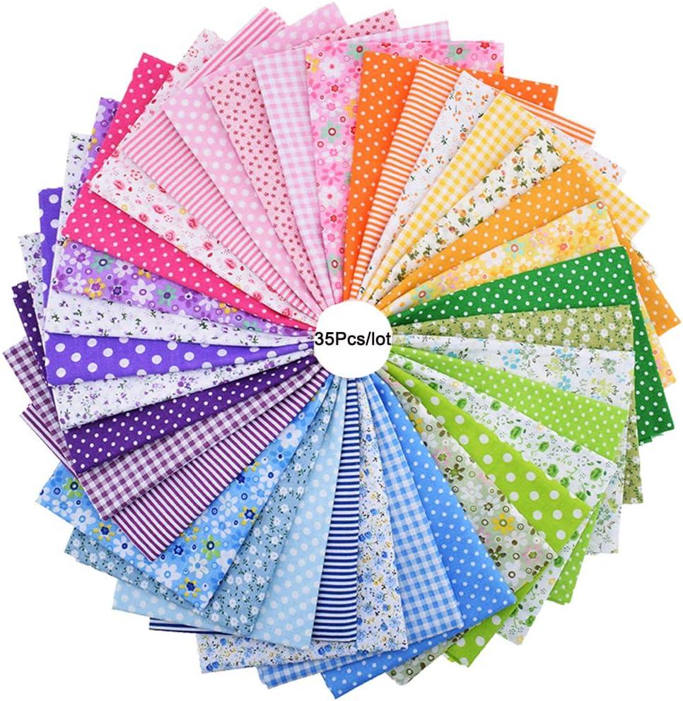 35 piezas de 25 cm x 25 cm de tela de algodón con estampado floral ...