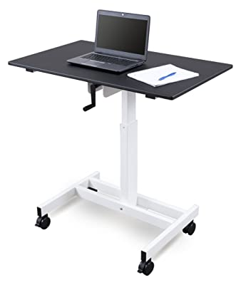 Single Column Crank Adjustable Stand Up Desk