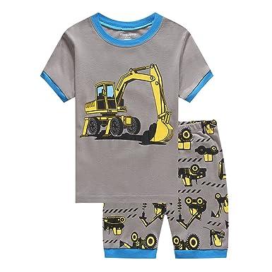 ee96193fbd Amazon.com  LaLaMa Little Boy Pajamas 2 Pieces Outfit Color Block T ...