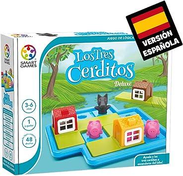 Oferta amazon: Los 3 cerditos (Smart games) – Juego educativo para niños, rompecabezas para niños, puzles infantiles, juego de mesa para niño, puzzle educativo, smartgames