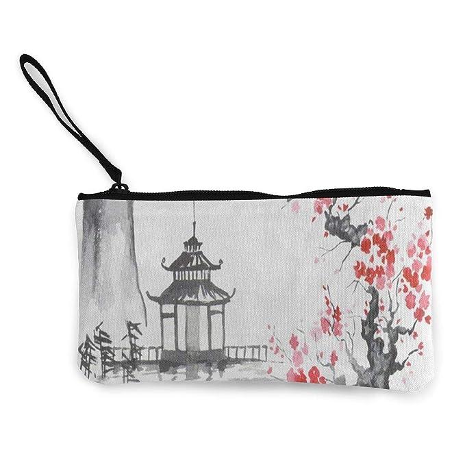 Amazon.com: Monedero de lona tradicional japonés de pintura ...