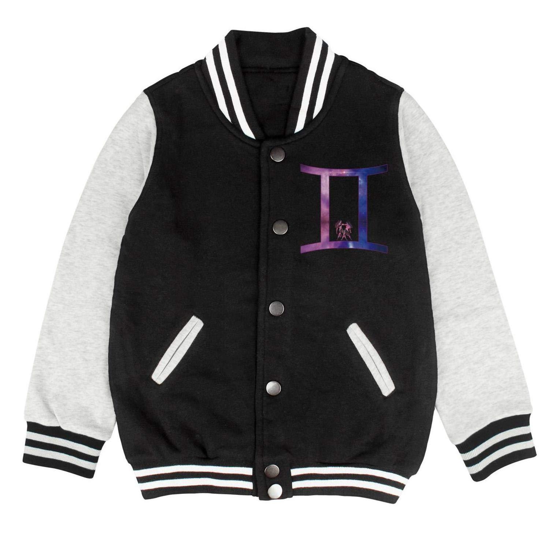 Autumn Baby Little Kids Uniform Galaxy Zodiac Virgo Sign Personality Baseball Jacket Sweatershirt