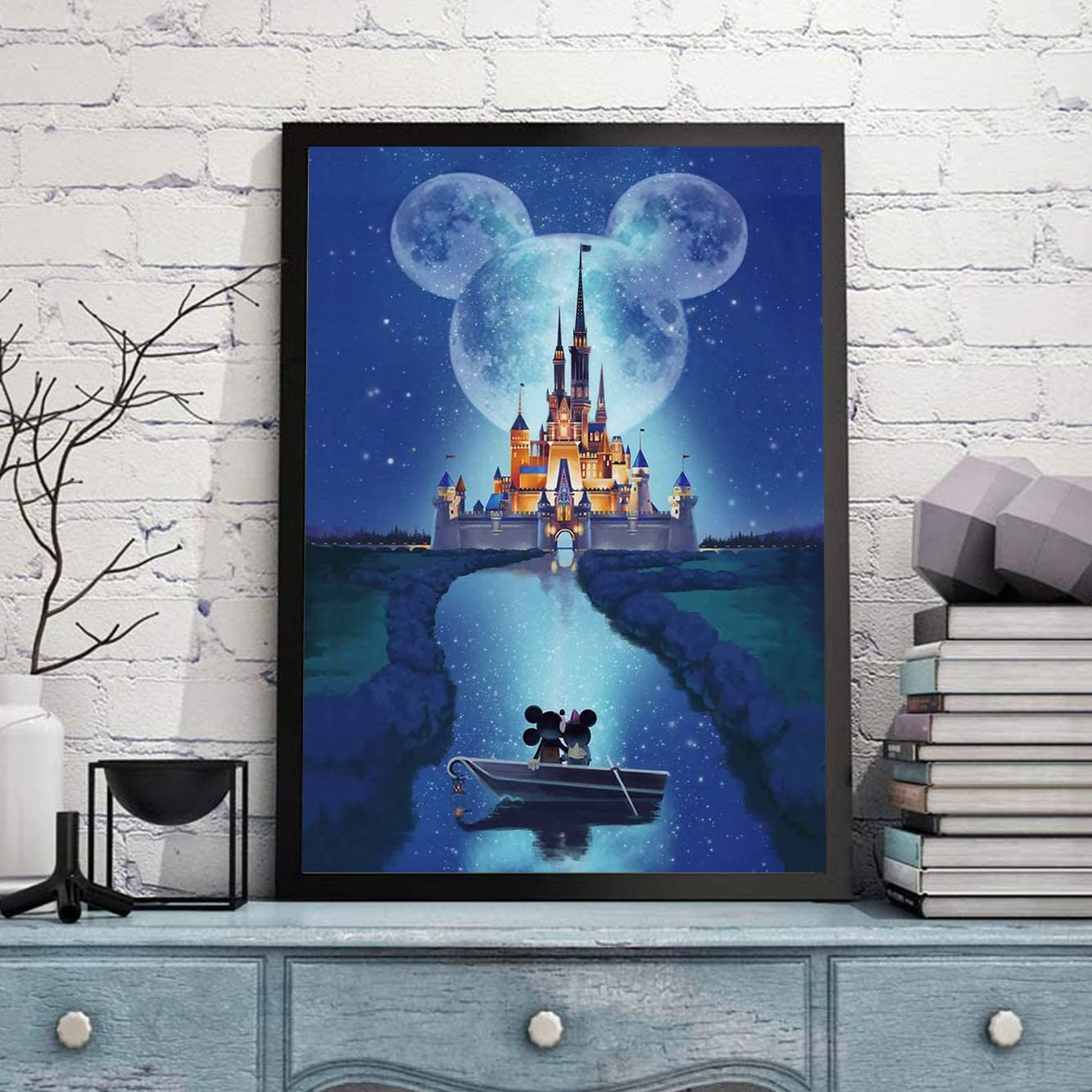 Disney Castle Cross Stitch Full Drill Suitable for Home Decoration Handmade Paintings for Kids and Adults DIY 5D Diamond Painting Disney by Number Kits