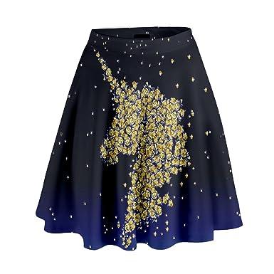 2a562912313a1 CowCow Women's Unicorn Fashion High Waist Skirt/A-Line Skater Skirt ...